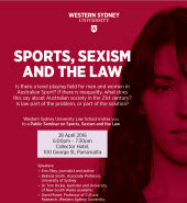 Public Seminar on Sports, Sexism and the Law