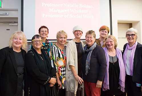 Professor Natalie Bolzan's retirement party