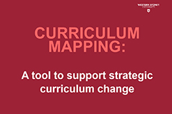 Curriculum Mapping Tool
