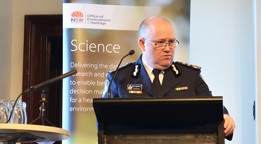 Chief Commissioner of the New South Wales Rural Fire Service, Shane Fitzsimmons, presents at the launch.