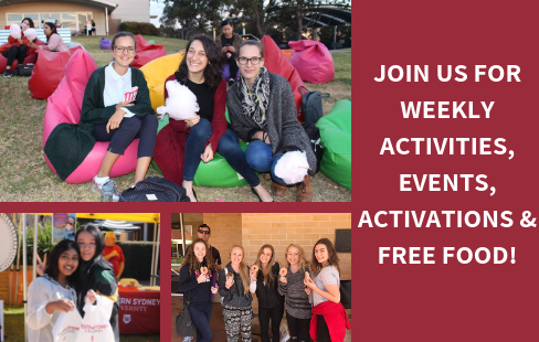 Join us for weekly activities, events, activations and free food
