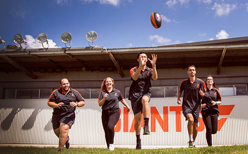 GWS GIANTS Football Club Interns at GIANTS HQ