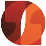 Small image of Policy Forum logo with orange and red colours and quotation marks.
