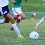 Small image of a football during a game.