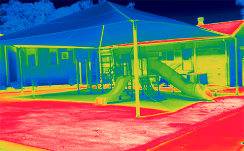 School temperature mapping provides first guidelines for cooler schools