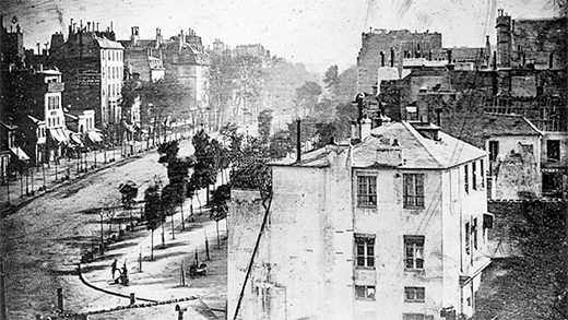 Photographic Time: Louis Daguerre Boulevard du Temple