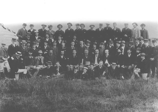 Officers and students, 1891-96 (Principal Thompson seated centre, front row) [Hawkesbury Agricultural College (HAC)]