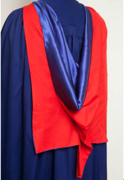 PhD gown back