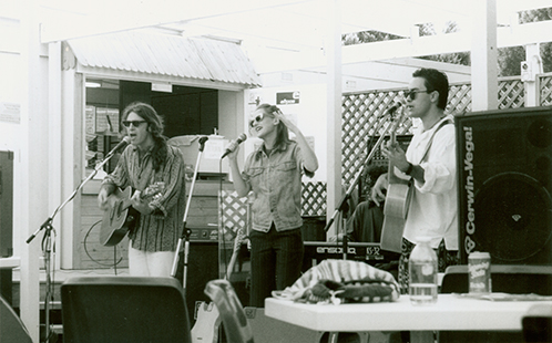Student band Leonardo's Bride at OPen Day 1995