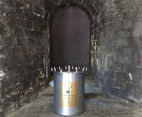 The 25th Anniversary time capsule which was placed in the Boilerhouse, Parramatta Campus July 2014