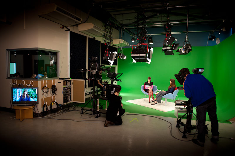 School of Humanities and Communication Arts TV studio during the filming of Shelf Life for TVS