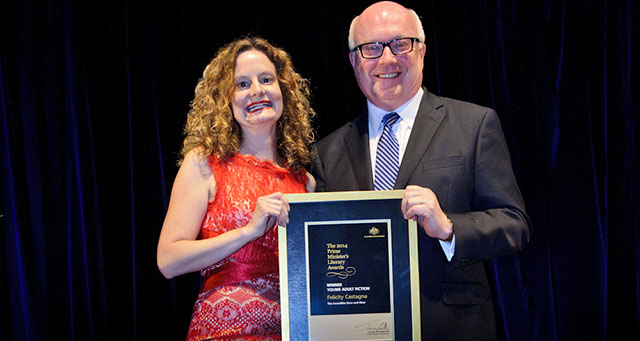 Felicity Castagna with George Brandis