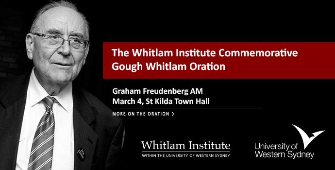 Whitlam Institute Commemorative Oration