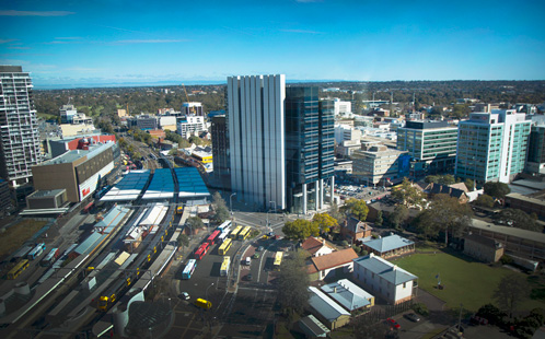 Parramatta CBD from above