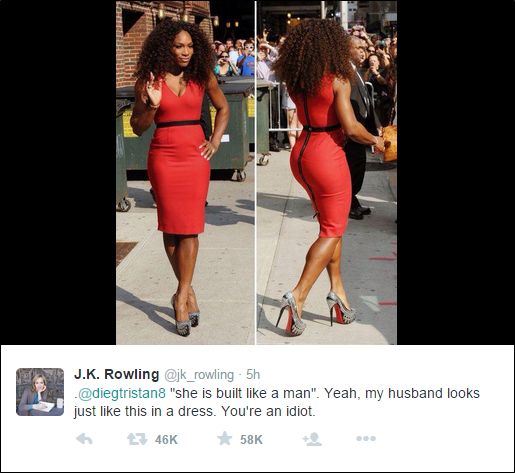 Serena Williams in a red dress