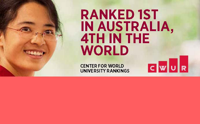 Ranked 1st in Australia and 4th in the World