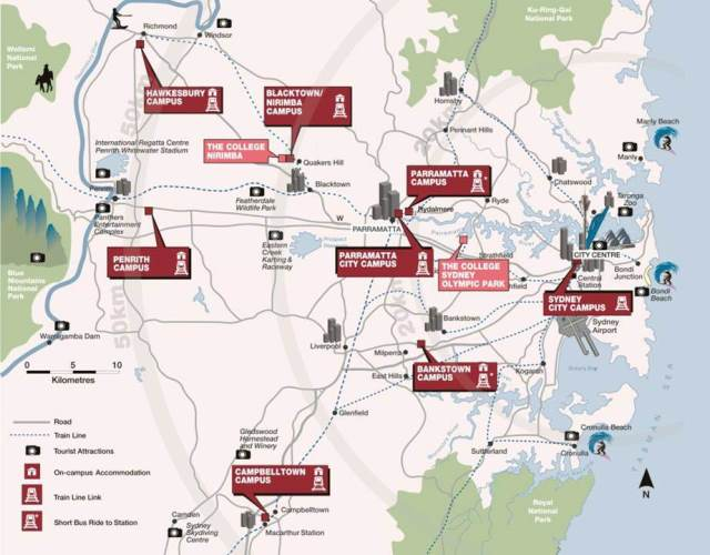Uws Bankstown Map Our campuses | Western Sydney University