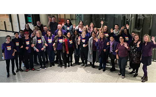 Wear it Purple Day 2018 at Western Sydney University