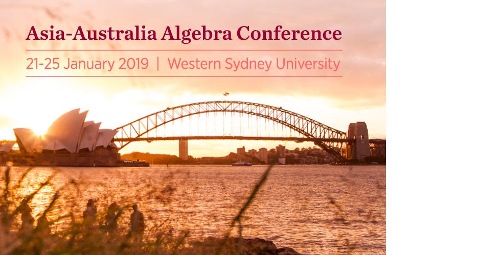 Asia-Australia Algebra Conference poster