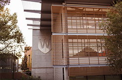 Western logo on building