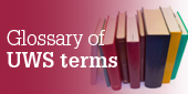 Glossary of UWS terms
