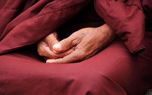 Hands in lap