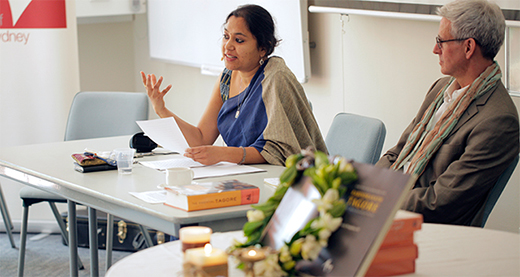 Mridrula Chakraborty presenting her paper