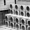 air conditioning fans on an office building