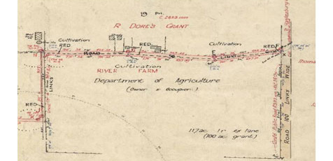 Crown Plan related to road planning dated 1935