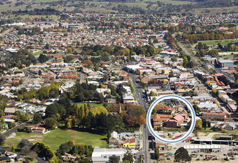Aerial view of Lithgow campus