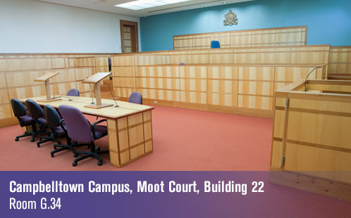 Campbelltown Campus, Moot Court, Building 22, Room G.34