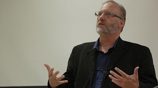Steven Frye presenting his paper