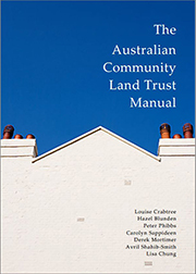 The Australian Community Land Trust Manual Cover which shows a cream coloured roof-top and a blue sky.