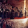Thumbnail of a Tom Roberts artwork: first parliament of the Commonwealth of Australia opening.