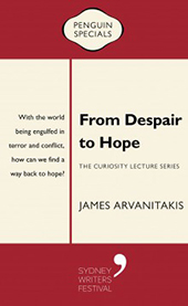 Cover of From Despair to Hope which is a red and cream stripe design.