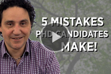 5 Mistakes PhD Candidates Make