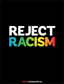 Reject Racism poster