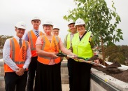The topping out ceremony at Macarthur Clinical Hospital
