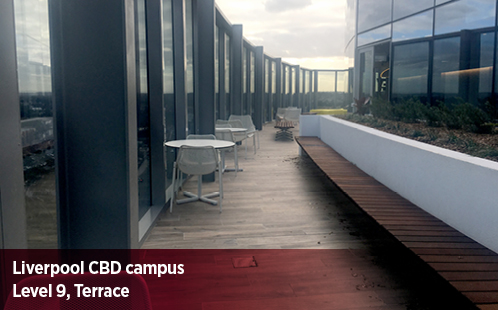 Liverpool CBD Campus, Level 9, Terrace