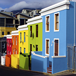 Colourful houses in Bo Kaap, South Africa