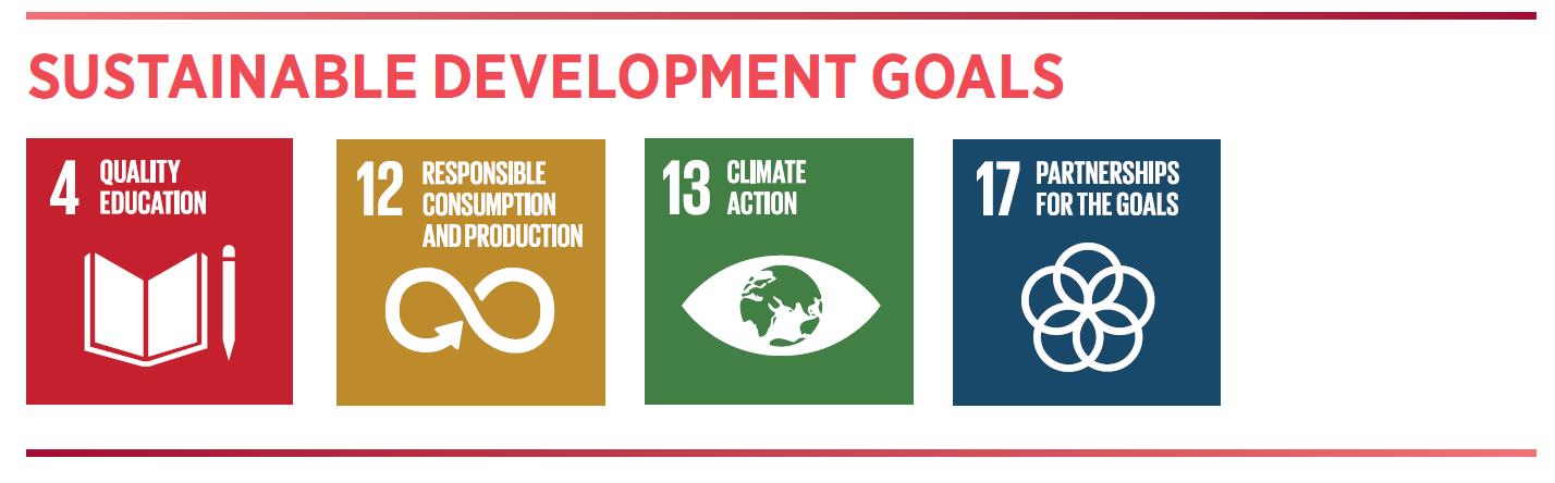 SDGs 4, 12, 13, 17