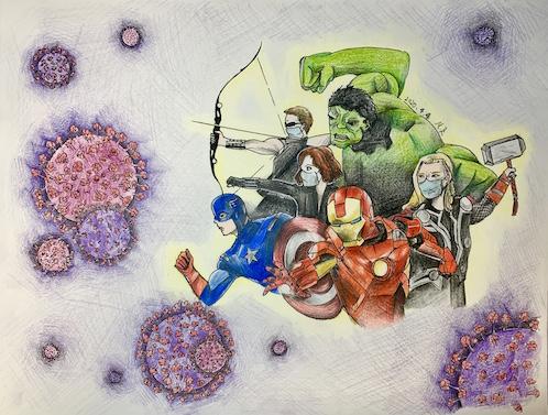 Artwork from the Coronavirus in Children's Eyes exhibition