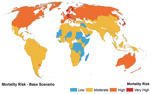 Mortality risk map