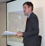 Brett Bennett presenting at the ICS Seminar Series.
