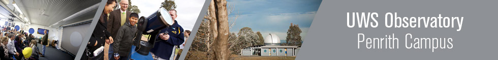 UWS Observatory Banner