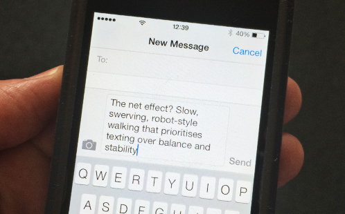 Text on a smart phone screen