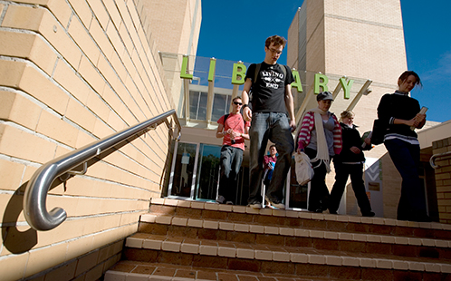 Campbelltown campus library entrance