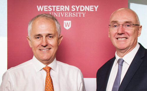 Malcolm Turnbull and Barney Glover