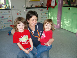 Sharon Crapp, User Support Officer, IT Campus Support Hawkesbury/Kingswood Team and her two children
