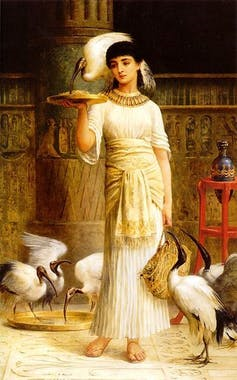Edwin Long, Alethe Attendant of the Sacred Ibis in the Temple of Isis at Memphis, 1888